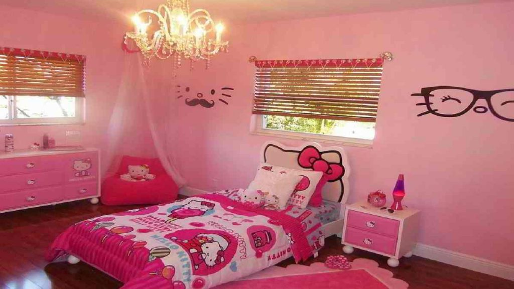 kamar tidur minimalis warna pink
